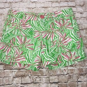 Lilly pulitzer shorts Callahan floral Pink green 0